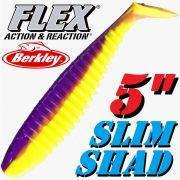 Berkley Flex Slim Shad 5 Gummifisch 12,5cm Purple Chartreuse 3 Stück im Set!