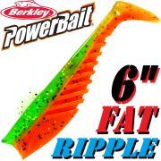 Berkley Power Bait Fat Ripple Shad Gummifisch 6 - 15cm Firetiger 2 Stück