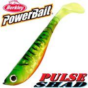 Berkley Power Bait Pulse Shad Gummifisch 14cm Firetiger 25 Stück im Set!