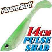 Berkley Power Bait Pulse Shad Gummifisch 14cm Farbe Granny 3 Stück im Set