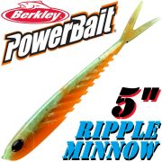 Berkley Power Bait Ripple Minnow / 12,5cm Green Orange 1 St.