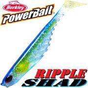 Berkley Power Bait Ripple Shad 3,5 Gummifisch 9cm Ocean 5 Stück im Set Barsch & Zanderköder