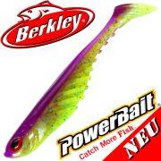 Berkley Power Bait Ripple Shad 3,5 Gummifisch 9cm Purple Chartreuse 2016 / 5 Stück im Set NEU 2016