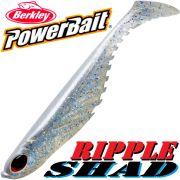 Berkley Power Bait Ripple Shad 3,5 Gummifisch 9cm Sparkle Pearl 5 Stück im Set Barsch & Zanderköder