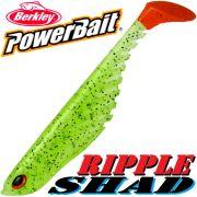 Berkley Power Bait Ripple Shad 3 Gummifisch 7cm Firetiger 5 Stück im Set Barschköder