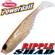 Berkley Power Bait Ripple Shad 4 Gummifisch 11cm Ghost Brown