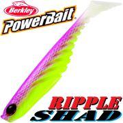 Berkley Power Bait Ripple Shad 4 Gummifisch 11cm Purple Chartreuse 5 Stück im Set NEU!