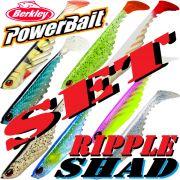 Berkley Power Bait Ripple Shad Gummifisch Set 3 7cm 8 Farben a 1 Stück = 8 Stück im Set