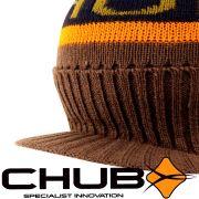 Chub Peak Beanie Mütze mit kurzem Schirm für Freizeit, Outdoor & Angeln Strikmütz Wintermütze