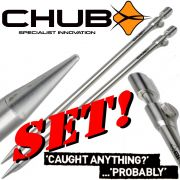 Chub Precision Bank Stick Rutenständer 6 Stück im Set aus voll Metall 50,8 cm lang extrem stabil