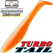 Cormoran K-Don Turbo Tail Gummifisch 13cm White Orange 1 Stk.