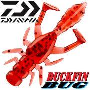 Daiwa Duckfin Bug Gummikrebs mit 2 Schaufelschwänzen 5cm Farbe Burning Red 10 Stück im Set Aromatisiert!