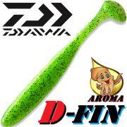 Daiwa Tournament D-Fin 3 Gummifisch 7,6cm Farbe Chartreuse 10 Stück im Set Tintenfisch-Aroma