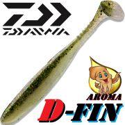 Daiwa Tournament D-Fin 3 Gummifisch 7,6cm Farbe Green Pearl 10 Stück im Set Tintenfisch-Aroma