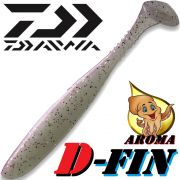 Daiwa Tournament D-Fin 3 Gummifisch 7,6cm Farbe Pearl 10 Stück im Set Tintenfisch-Aroma