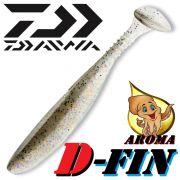 Daiwa Tournament D-Fin 3 Gummifisch 7,6cm Farbe Rainbow Shad 10 Stück im Set Tintenfisch-Aroma