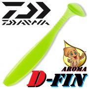 Daiwa Tournament D-Fin 3 Gummifisch 7,6cm Farbe Solid Lemon Lime 10 Stück im Set Tintenfisch-Aroma