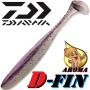 Daiwa Tournament D-Fin Gummifisch 3 - 7,6cm Farbe Purple Pearl mit Tintenfisch-Aroma 1 Stück