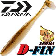 Daiwa Tournament D-Fin Gummifisch 4 - 10,2cm Farbe Motoroil Ayu mit Tintenfisch-Aroma 1 Stück Zanderköder