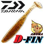 Daiwa Tournament D-Fin Gummifisch 4 - 10,2cm Farbe Pumpkin 1 Stück mit Tintenfisch-Aroma