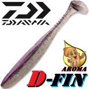 Daiwa Tournament D-Fin Gummifisch 4 10,2cm Farbe Purple Pearl mit Tintenfisch-Aroma 1Stück Zanderköder