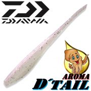 Daiwa Tournament D-Tail Pintail-Shad 4 - 10,2cm Farbe Pearl mit Tintenfischaroma No-Action-Shad für Barsch&Zander