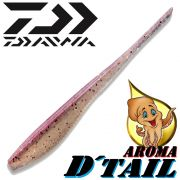 Daiwa Tournament D-Tail Pintail-Shad 4 - 10,2cm Farbe Purple Pearl mit Tintenfischaroma No-Action-Shad für Barsch&Zander
