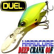 DUEL Hardcore Deep Crank 60F Wobbler Farbe MBCL Blue Chartreuse 60mm 11g Floating Tauchtiefe 2,5-3,5m Barsch&Zanderköder