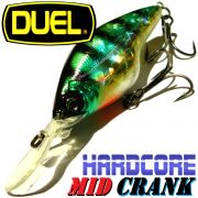 DUEL Hardcore Mid Crank 60F Wobbler Farbe HBG Perch 60mm 10g Floating Tauchtiefe 1,5-2,5m Barsch&Zanderköder