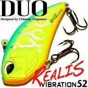 DUO Realis Vibration 52 Wobbler 52mm 9g Sinking Farbe Mat Blue Back Chart Tiger Crankbait Barsch&Zanderköder