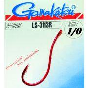 Gamakatsu LS-3113R Wurmhaken Aalhaken Gr.1/0 ungebunden mit Öhr 20 Stück Farbe Rot