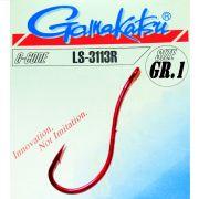 Gamakatsu LS-3113R Wurmhaken Aalhaken Gr.1 ungebunden mit Öhr 25 Stück Farbe Rot