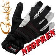 Gamakatsu Neopren Angelhandschuh Farbe Schwarz Grau Größe XL mit gummierten Handflächen & geschlitzten Fingern!