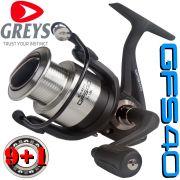 Greys Prodigy GFS 40 Stationärrolle Größe 4000 Gewicht: 300g 9+1 Lager 300m - 0,22mm Mikrofeine Frontbremse
