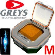 Greys Prodigy Klip-Lok Flip Top Lid Köderbox Größe M Wurm- und Madenbox 1,36 Liter Volumen ideal für lebende Angelköder