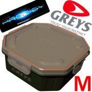 Greys Prodigy Klip-Lok Performierte Köderbox Größe M Wurm- und Madenbox 1,36 Liter Volumen ideal für lebende Angelköder