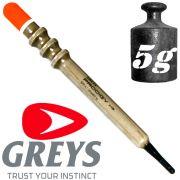 Greys Prodigy Rippla 1 Unloaded Waggler Pose Tragkraft 5g Wagglerpose ideal für flache Gewässer
