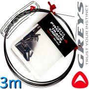 Greys Prowla Supa Titan Wire & Crimps Titanvorfachmaterial mit Quetschhülsen 13kg -30lb Tragkraft 3m Länge ideal fürs Raubfischangeln 100% Hechtsicher!