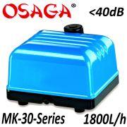 Osaga MK-30 Series Teichbelüfter Sauerstoffpumpe Luftpumpe 30L/min 1800L/h Membrankompressor für Koiteich & Schwimmteich