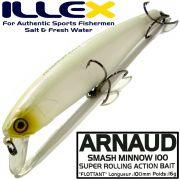 Illex Arnaud 100F Wobbler Floating 100mm 16g Farbe Bone Design by Seiji Kato