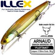 Illex Arnaud 110F Wobbler Floating 18g Farbe HL Wakasagi NEU 2015 Design by Seiji Kato