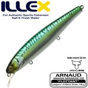 Illex Arnaud 110F Wobbler Floating 18g Farbe Green Mackerel by Seiji Kato