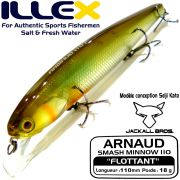 Illex Arnaud 110F Wobbler Floating 18g Farbe SG Ayu Design by Seiji Kato