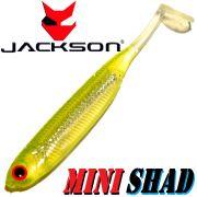 Jackson Mini Shad Gummifisch 2,8 ca. 7cm Farbe Light Citrus 1 Stück Forellen & Barschköder