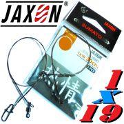 Jaxon Stahlvorfach Sumato 1X19 Strand Spin Snap + Wirbel Länge 30cm Tragkraft 8,0kg 2 Stück im Set