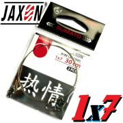 Jaxon Stahlvorfach Sumato 1X7 Strand Spin Snap + Wirbel Länge 30cm Tragkraft 9,0kg 2 Stück im Set