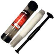 JRC PVA Mesh Boilie PVA Gewebe Länge 5m Durchmesser 23,5mm mit Füllrohr & Stopfer für Boilies & Partikel am Stick Rig