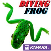 Kahara Diving Frog tauchender Gummifrosch ca. 60mm 17,2g Farbe Forest Green Reef Frog Top Hechtköder
