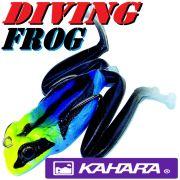 Kahara Diving Frog tauchender Gummifrosch ca. 60mm 17,2g Farbe Poisen Frog Top Hechtköder