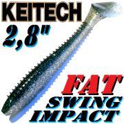Keitch FAT Swing Impact 2,8 Gummifisch 7cm Hasu Silver Shiner 8 Stück im Set